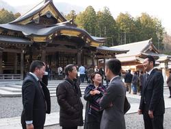 弥彦神社参拝