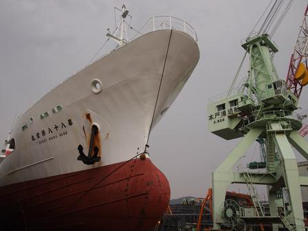 木戸浦造船に上架