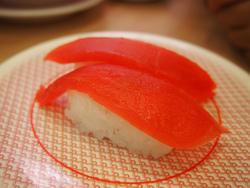 回転寿司では赤身を食う