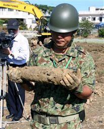 沖縄に残る不発弾