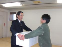児童福祉施設へのマグロの寄贈
