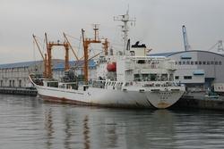 冷凍運搬船が座礁