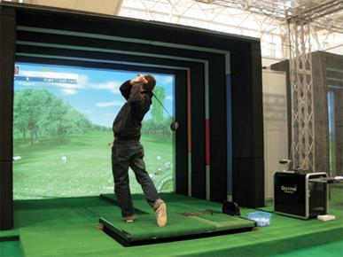 シュミレーションゴルフを体験した