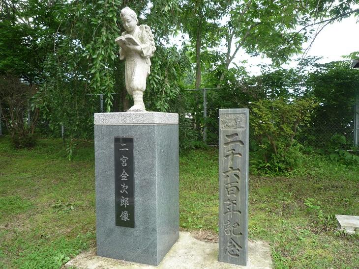鹿角の偉人銅像 2
