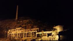 尾去沢鉱山ライトアップ