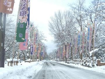 雪化粧(小坂町の風景)