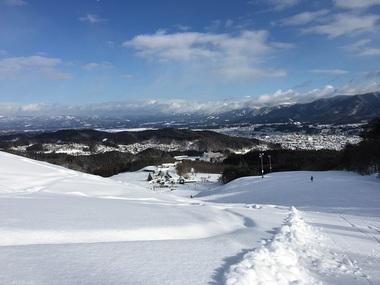 水晶山スキー場からの眺め