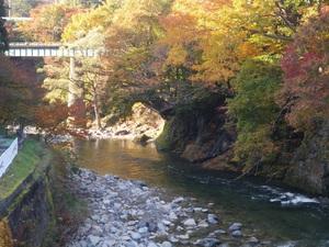 晩秋の湯瀬渓谷を歩く(回想)