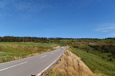 山頂付近道路