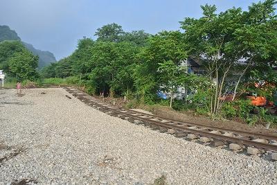 被災した線路