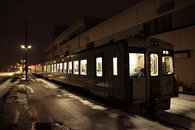 鹿角花輪駅 始発列車