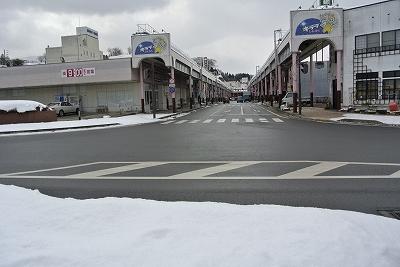花輪の商店街