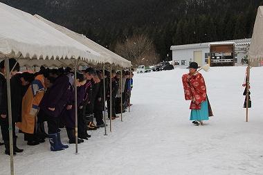 花輪スキー場 神事