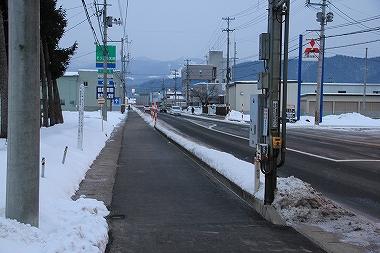 歩道の消雪