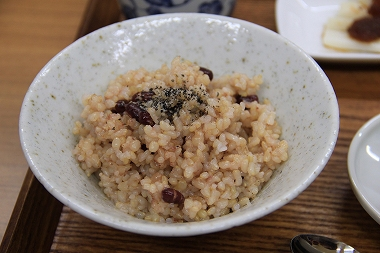 淡雪こまちの小豆玄米ごはん