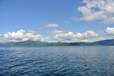 大川岱桟橋から十和田湖