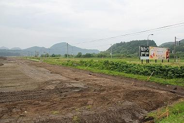 国道103号と工事現場