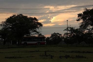 ストーンサークルの夕日