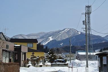 花輪スキー場の山並み