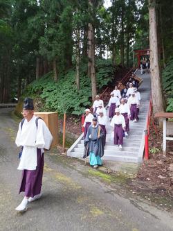 神明社・幸稲荷神社祭典~神輿渡御