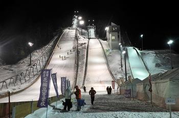 花輪スキー場でスキーのインターハイ!