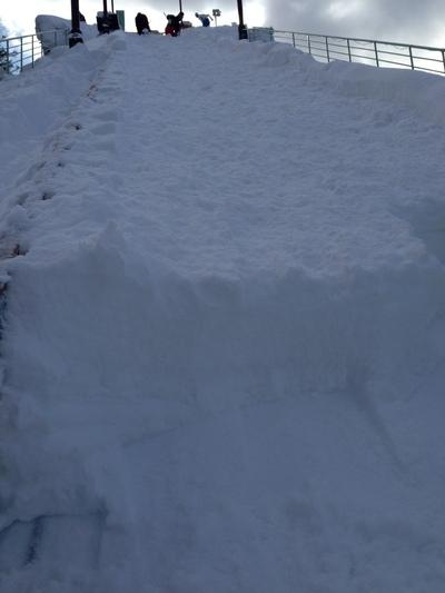 ジャンプ台 積雪