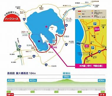 十和田湖マラソン コース図