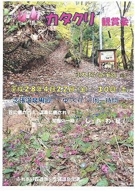 志張温泉 カタクリ鑑賞会