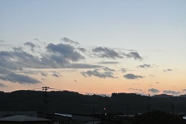 鹿角の夕焼け