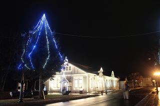 天使館ライトアップ