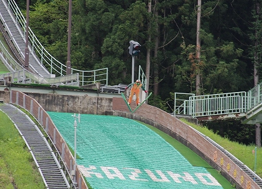花輪スキー場 韓国選手合宿