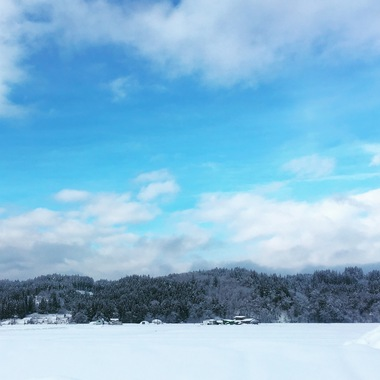 今朝の鹿角市の雪景色