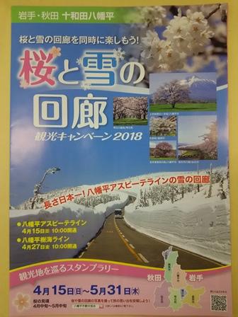 八幡平アスピーテライン ガンバル除雪隊