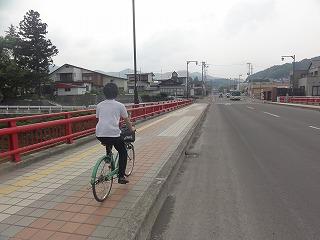 自転車に乗ったときの風は気持ちいい。