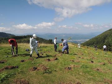 上沼牧野跡地 植樹祭