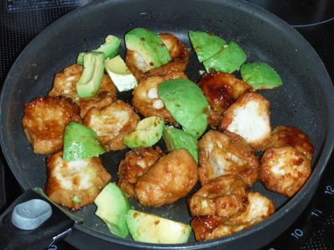 仙台麸とアボガドの味噌炒め
