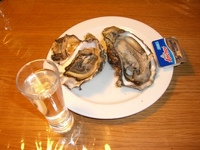 冷酒と牡蠣