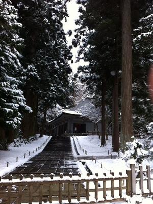 冬の平泉!