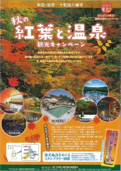 「秋の紅葉と温泉観光キャンペーン」始まります!