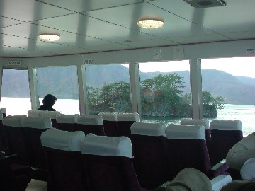 十和田湖で遊覧旅行