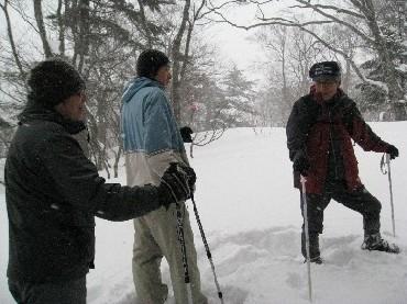雪の自然を満喫!