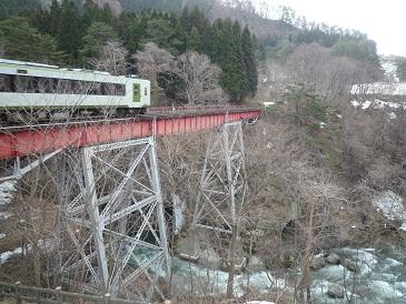 湯瀬渓谷の天狗橋