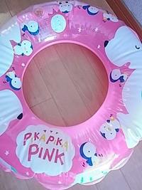 ビンテージ浮き輪のpikapika pink
