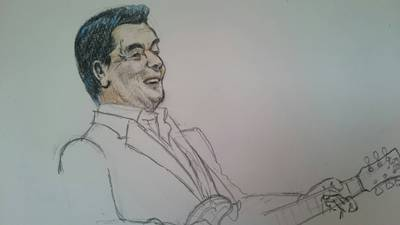 """色鉛筆で""""加山雄三""""さんを描いてみた"""