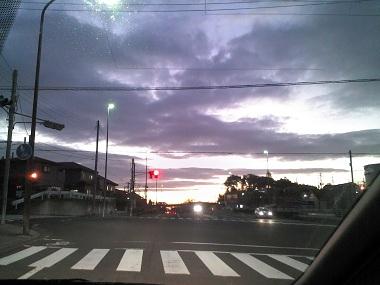 今朝の通勤路!!