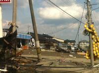 地震の後の石巻