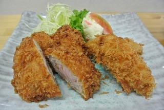「とんかつ勝子」さんのカキフライ&ひれかつ定食