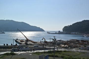 女川町中心部の状況(2014年8月13日)