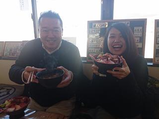 やっちさん&あやみちゃんと女川丼ランチ!