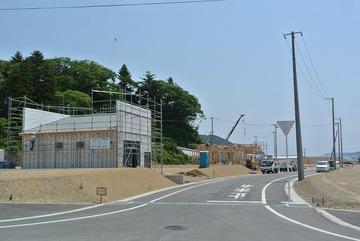 女川駅前の建築工事も順次進行中!